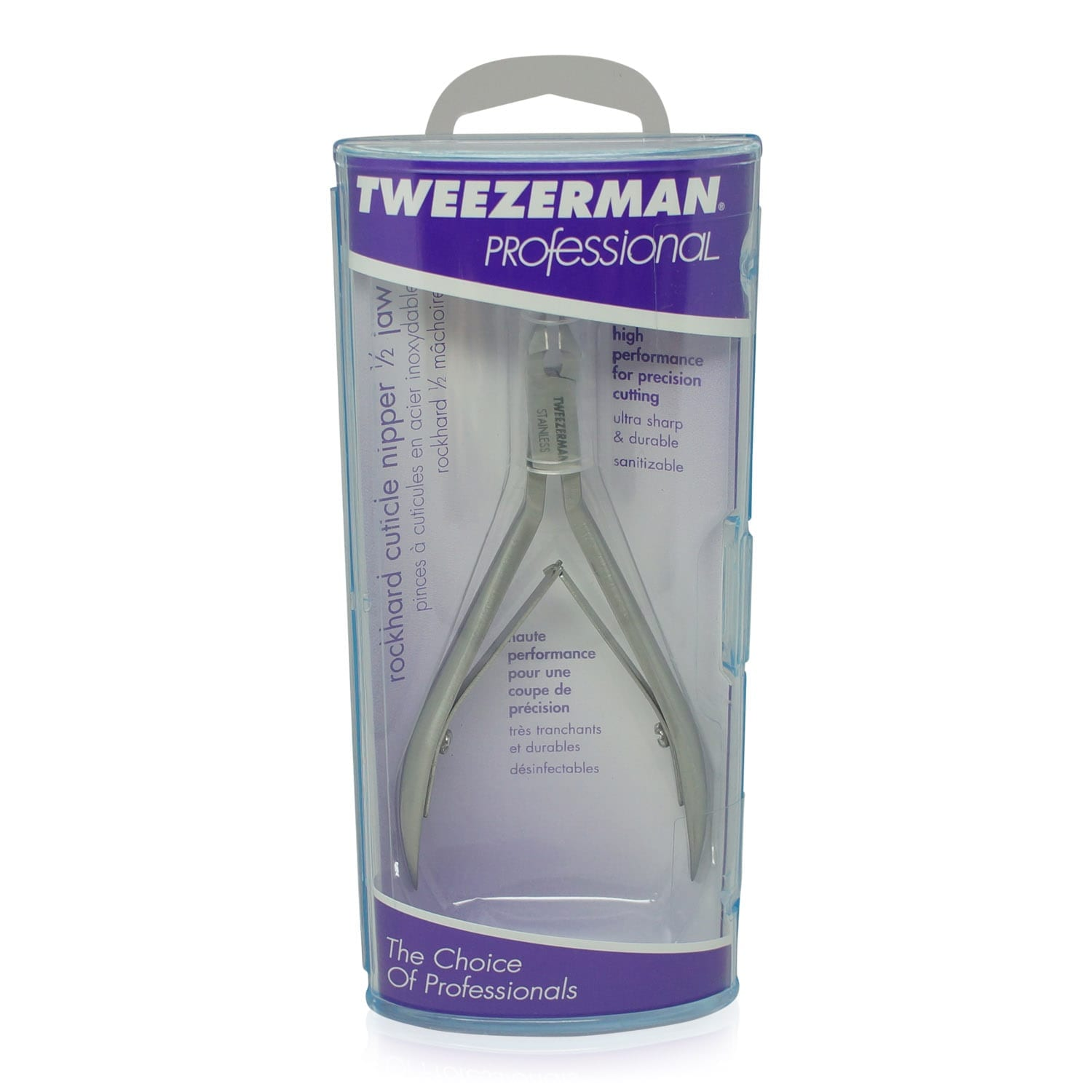 Tweezerman Rockhard Cuticle Nipper 1/2 Jaw - Professional