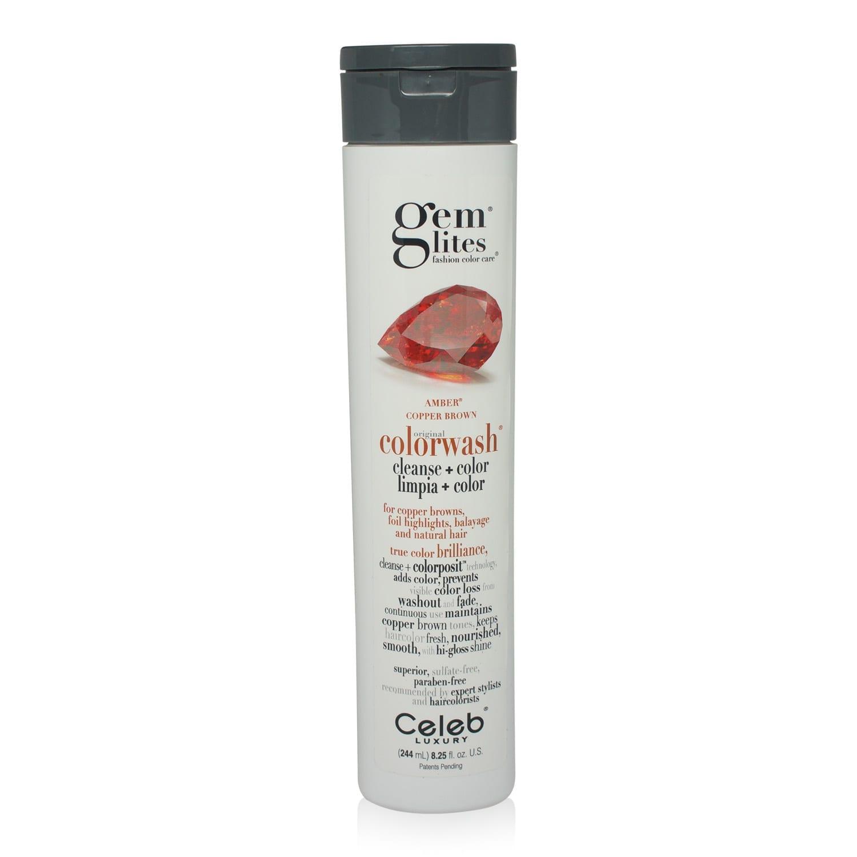 Celeb Luxury- Gemlites -Amber Colorwash Shampoo 8.25 Oz