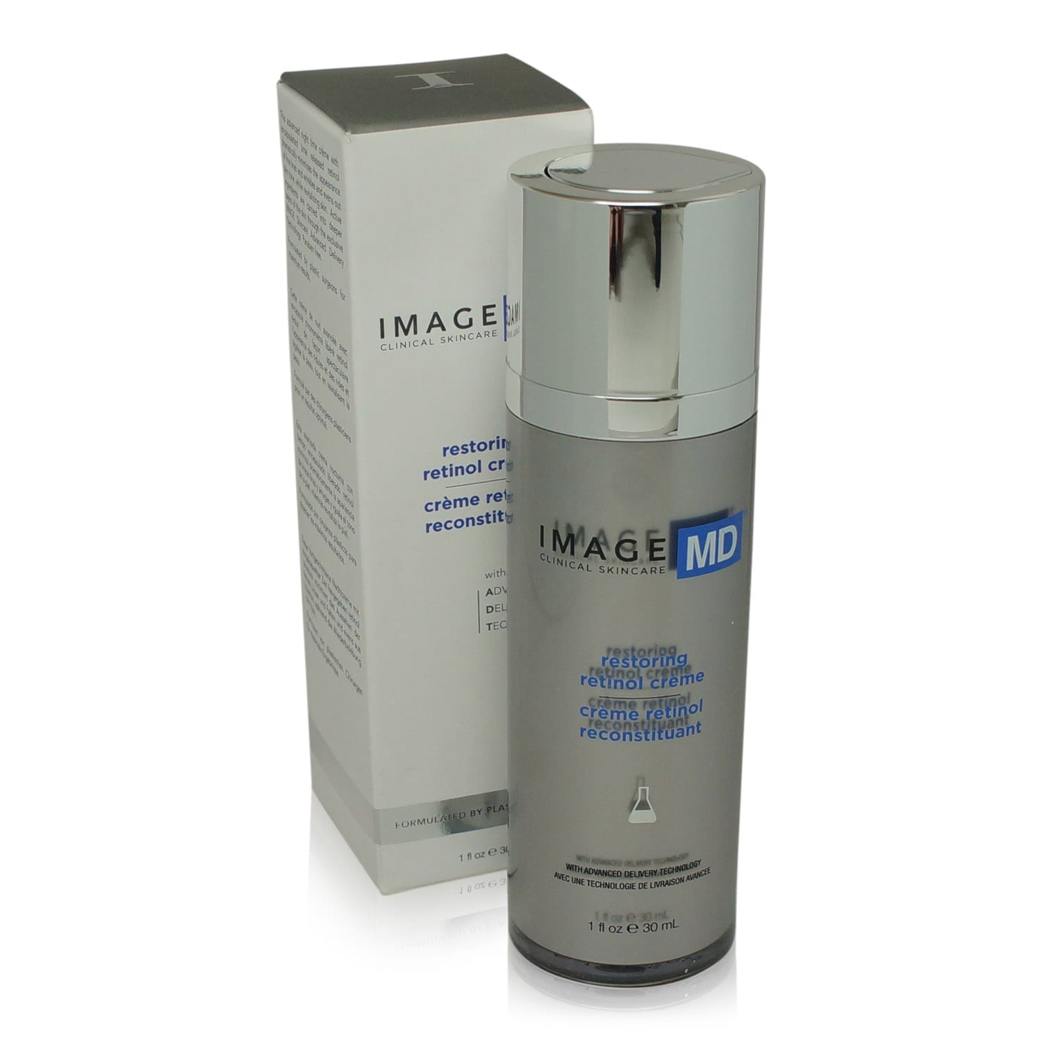IMAGE Skincare MD Restoring Retinol Creme with ADT Technology 1 oz. bottle front view with box