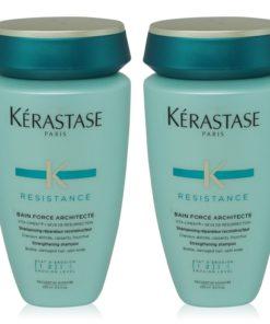 Kerastase Resistance Bain Force Architecte Reconstructing Shampoo 8.5 oz - 2 Pack