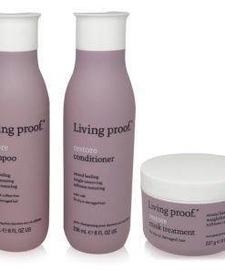 Living Proof Restore Shampoo 8 oz. Conditioner 8 oz. Mask Treatment 8 oz.