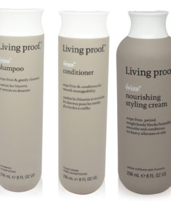 Living Proof  No Frizz  3 Item Value Pack Shampoo Conditioner Styling Cream 8 Oz Each