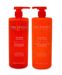 Obliphica Professional Seaberry Shampoo & Conditioner, Fine to Medium 33.8 oz Combo Pack