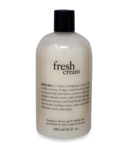 Fresh Cream Shampoo, Shower Gel & Bubble Bath 16 Oz