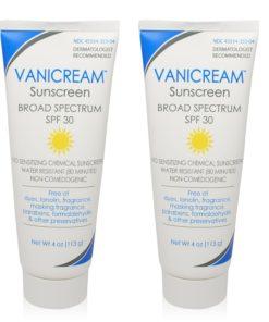 Vanicream Sunscreen Sensitive Skin SPF 30 4-Oz (Pack of 2)