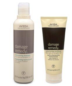 Aveda Damage Remedy Shampoo 8.5 oz & Conditioner 6.7oz Combo Pack