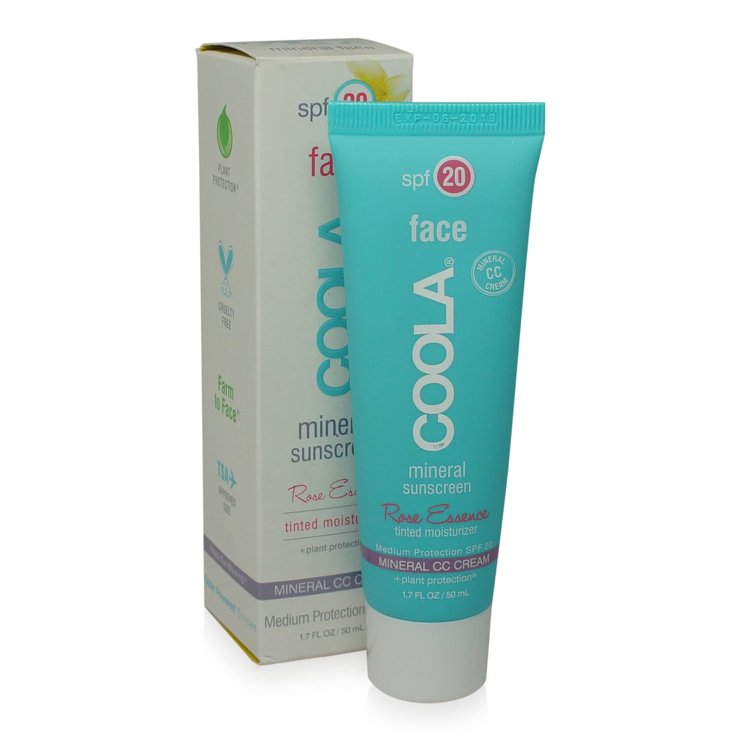 Coola Face Rose Tinted Sunscreen Lotion SPF 20