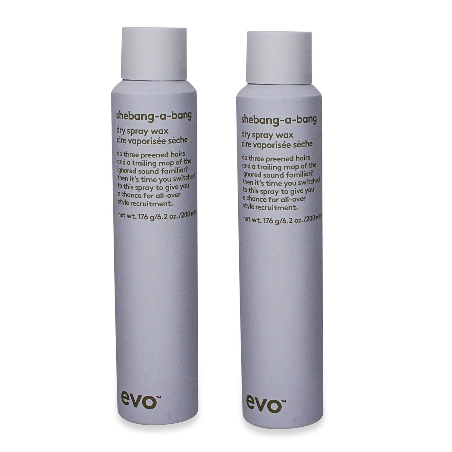 EVO Shebangabang Dry Spray Wax 4.2 Oz- 2 Pack