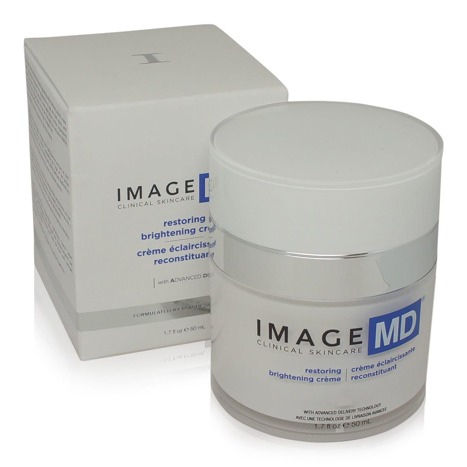 Image SKincare moisturizing cream box and product front view
