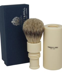 Truefitt & Hill Ivory Turnback Traveler Badger Hair Brush