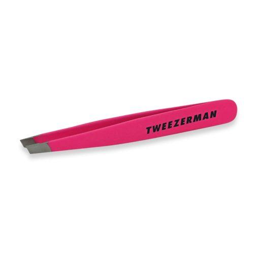 Tweezerman Mini Slant Tweezer Neon Pink