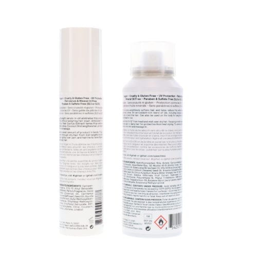 IGK CryBaby Anti-Frizz Smoothing Serum 1.5 oz & Speechless Dry Oil Finishing Spray For Hair and Body 2.8 oz Combo Pack