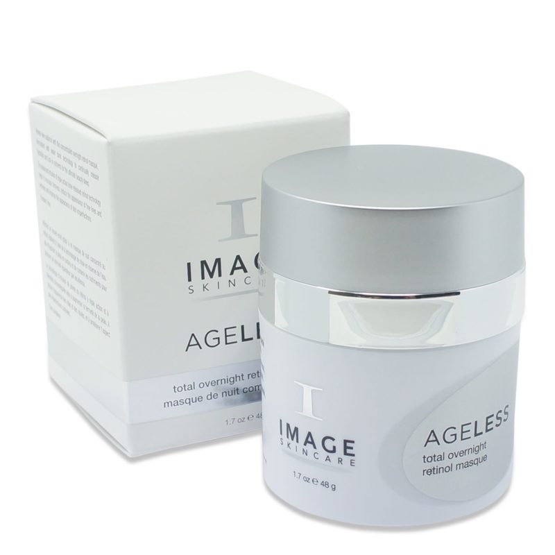 IMAGE Skincare Line of AGELESS Total Overnight Retinol Masque Showing product and box