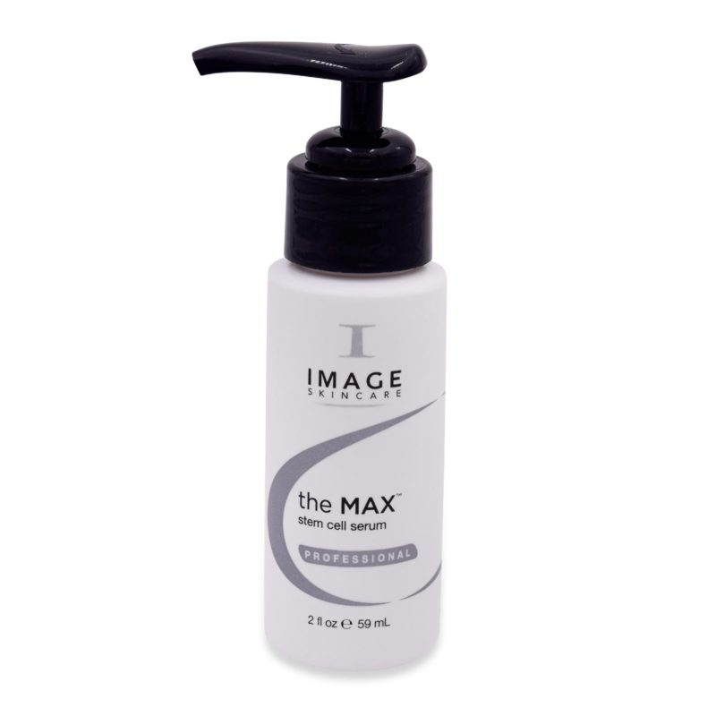 The Max Stem Cell Serum 2 oz bottle with pump front view