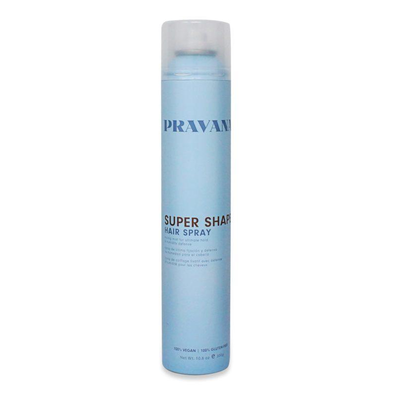 simple hairstyle for long hair using Pravana Super Shape Hair Spray