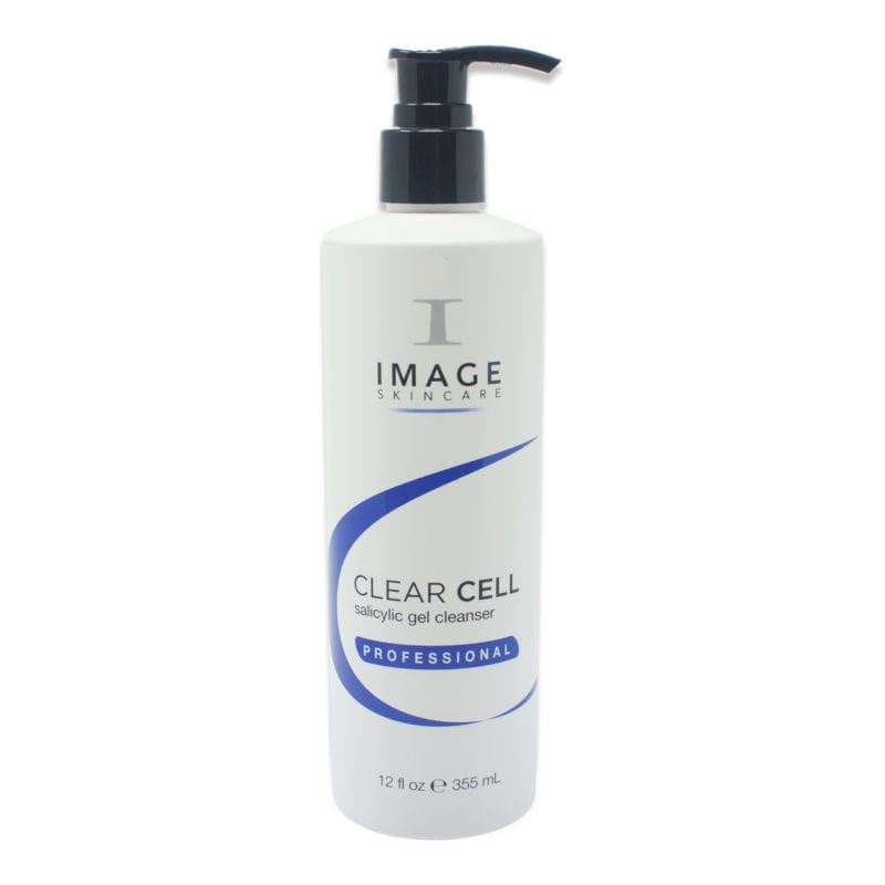 IMAGE Skincare Clear Cell Salicylic Gel Cleanser 12 oz bottle with pump view