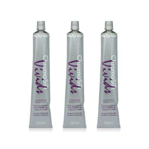 PRAVANA ChromaSilk Vivids Creme Hair Color with Silk & Keratin Protein (Blue)3 Oz-3 pack