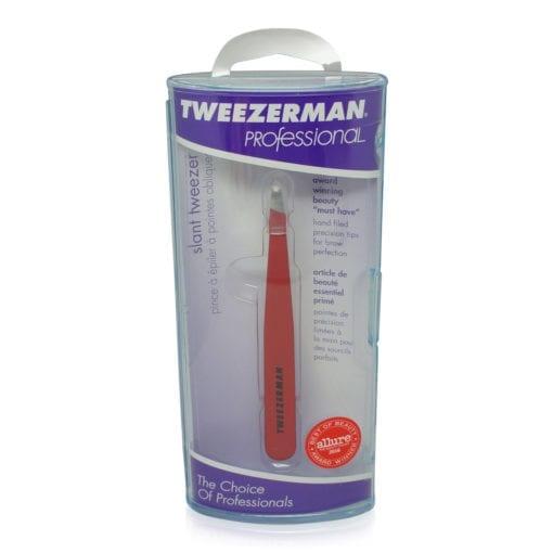 Tweezerman Slant Tweezer Signature Red