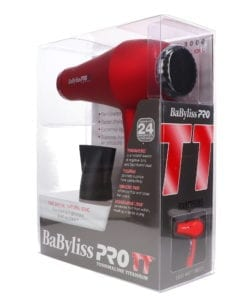 BaBylissPRO TT Tourmaline Titanium 3000 Dryer Red