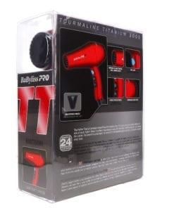 BaBylissPRO TT Tourmaline Titanium 3000 Dryer Red