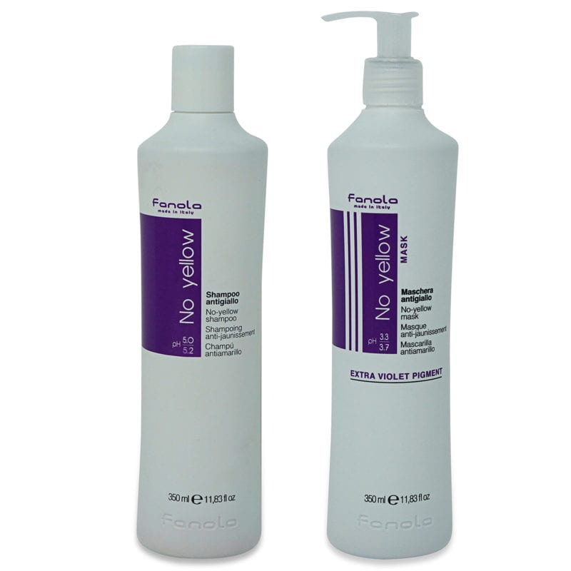 Fanola No Yellow Shampoo 11.83 oz & No Yellow Mask 11.83 oz Combo Pack