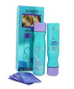Malibu C Blondes Enhancing Kit- 9 Oz Shampoo 9 Oz Conditioner and 0.17 Oz Wellness Treatment