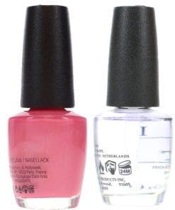 OPI Aphrodite's Pink Nightie NLG01 .5 oz & Top Coat T30 .5 oz Combo Pack