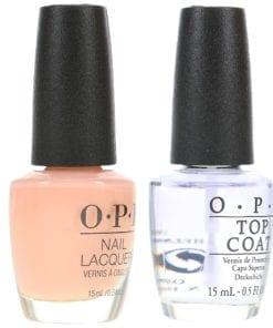 OPI Bubble Bath NLS86 .5 oz & Top Coat T30 .5 oz Combo Pack