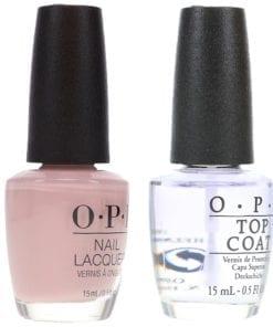 OPI Don't Bossa Nova Me Around 0.5 oz & Top Coat T30 .5 oz Combo Pack