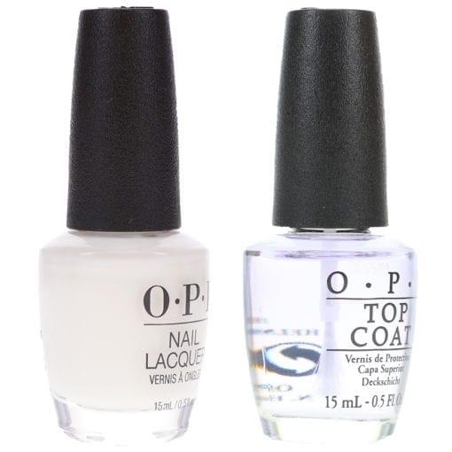 OPI Funny Bunny 0.5 oz & Top Coat T30 .5 oz Combo Pack