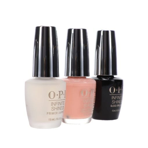 OPI Infinite Shine Bubble Bath 0.5 oz & Base Coat Prime + Gloss Top Coat Infinite Shine Duo Set Combo Pack