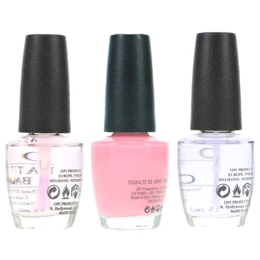 OPI It's A Girl .5 oz, Top Coat .5 oz & Natural Nail Base Coat .5 oz Combo Pack