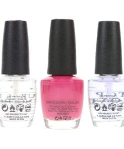 OPI Just Lanai-ing Around NLH72 .5 oz, Top Coat T30 .5 oz & Natural Nail Strengthener T60 .5 oz Pack