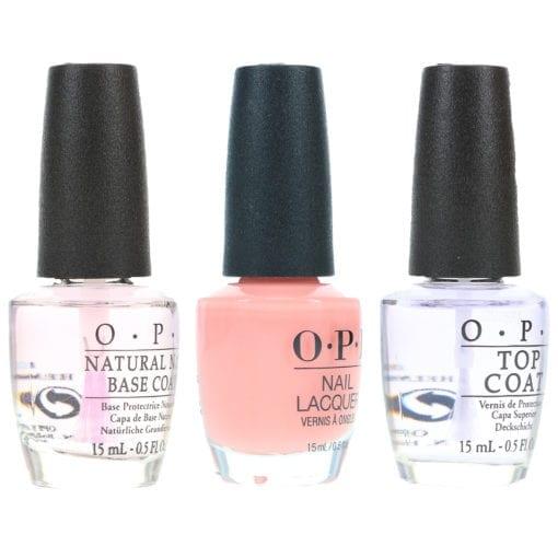OPI Passion .5 oz, Top Coat .5 oz & Natural Nail Base Coat .5 oz Combo Pack