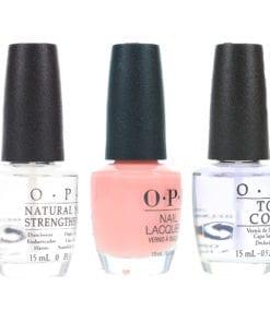 OPI Passion NLH19 .5 oz, Top Coat T30 .5 oz & Natural Nail Strengthener T60 .5 oz Pack
