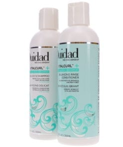 Ouidad Vitalcurl+ Clear & Gentle Shampoo 8.5 oz & Vitalcurl+ Balancing Rinse Conditioner 8.5 oz Combo Pack
