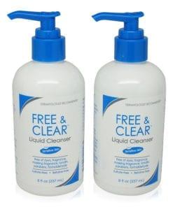 Vanicream Free and Clear Liquid Cleanser 8 Oz (2 Pack)