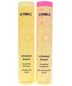 Amika Velveteen Dream Smoothing Shampoo 10.1 oz & Conditioner 10.1 oz Combo Pack