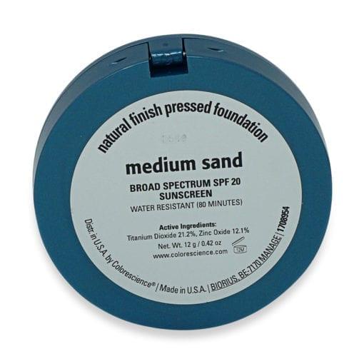 Colorescience Finish Pressed Foundation SPF 20 Medium Sand 0.42 oz.