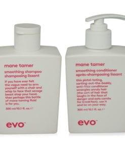 EVO Mane Tamer Smoothing Conditioner & Shampoo 10.14 oz Combo Pack