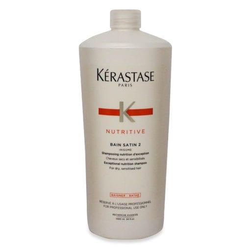 Kerastase Nutritive Bain Satin 2 Complete Nutrition Shampoo 33.8 Oz