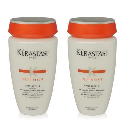 Kerastase Nutritive Bain Satin 2 Shampoo 8.5 oz. 2 Pack