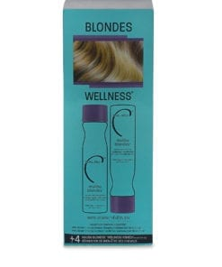 Malibu C Blondes Enhancing Kit- 9 Oz Shampoo 9 Oz Conditioner and 0.17 Oz Wellness Treatment
