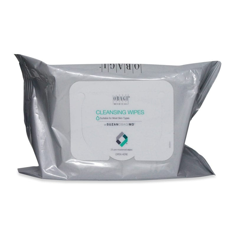 Obagi SUZANOBAGIMD On the Go Cleansing and Makeup Removing Wipes, 25 count