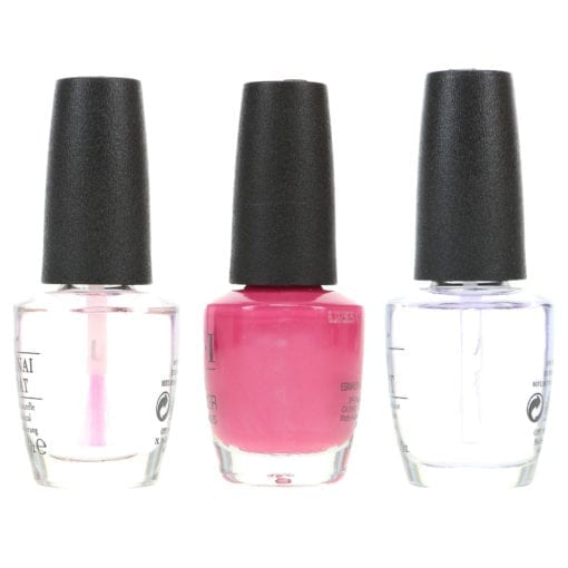 OPI Just Lanai-ing Around .5 oz, Top Coat .5 oz & Natural Nail Base Coat .5 oz Combo Pack