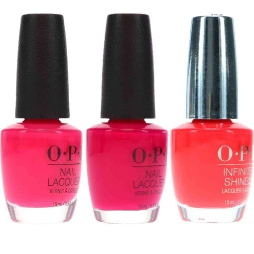 OPI Strawberry Margarita .5 oz. OPI Koala Beary .5 oz. OPI She Went On And On And On .5 oz. Pink Combo Set