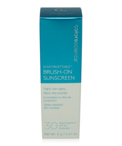 Colorescience Sunforgettable Brush on Sunscreen SPF 30 Medium 0.21 oz.