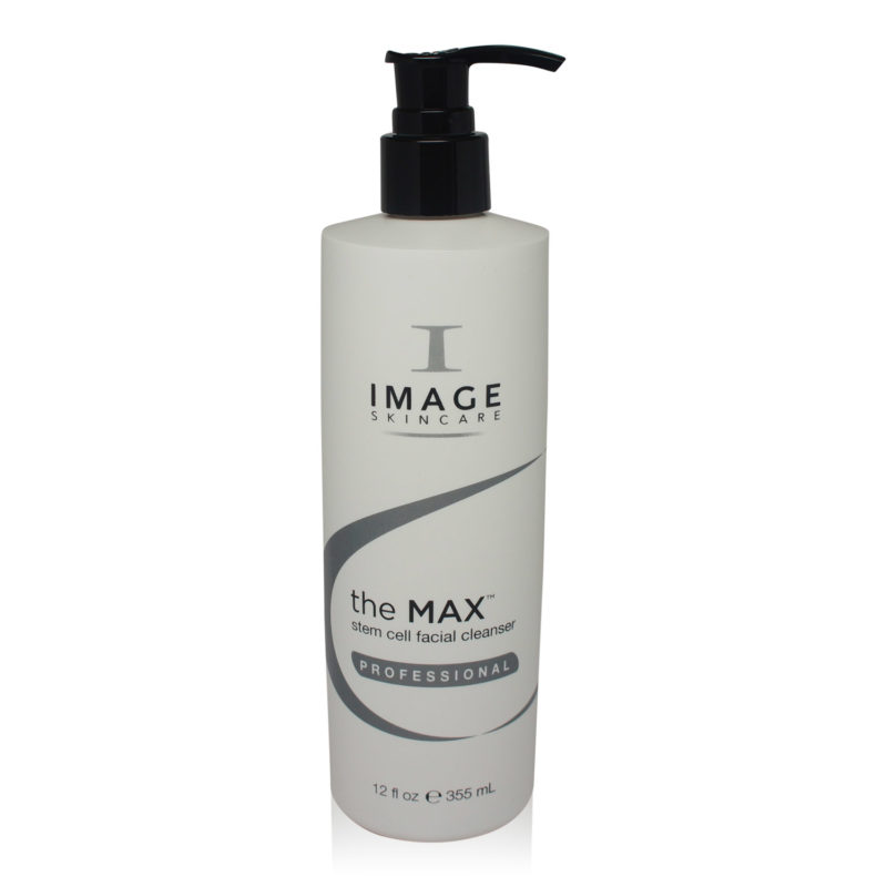 IMAGE Skincare The MAX Stem Cell Facial Cleanser 12 oz front view of product.