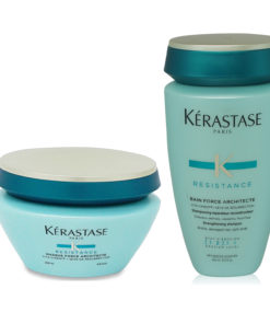 Kerastase Resistance Bain Force Shampoo 8.5 and Masque Force Architecte 6.8 Combo Pack