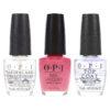 OPI Aphrodite's Pink Nightie NLG01 .5 oz, Top Coat T30 .5 oz & Natural Nail Strengthener T60 .5 oz Pack